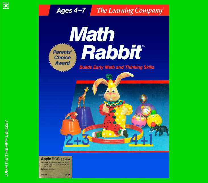 what is the apple iigs u003e 8 bit educational on 3 5 disk u003e math rabbit rh whatisthe2gs apple2 org za 1990 VW Rabbit Convertible Volkswagen Rabbit Convertible