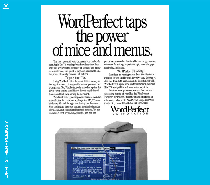what is the apple iigs   u0026gt  productivity applications  u0026gt  word